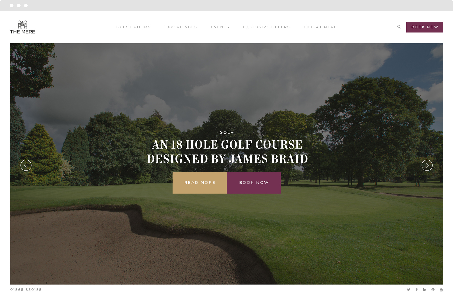 The Mere homepage